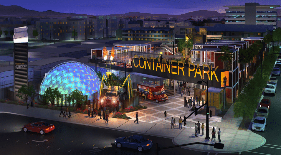 Downtown Container Park Shopping Centre – Las Vegas, USA